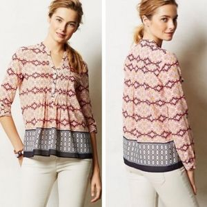 Anthropologie HD in Paris Kaveri Popover Blouse